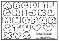 Learn How To Draw Bubble Letter Alphabet