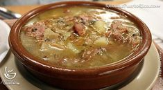 Galician soup - Caldo Gallego Boricua Recipes, Cuban Recipes, Real Food Recipes, Cooking Recipes, Yummy Food, Yummy Recipes, Tasty, Puerto Rican Bread Recipe, Puerto Rican Recipes Rice