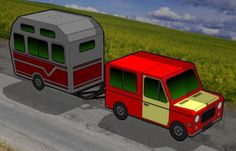 Truck And Caravan Paper Models - by Papermau - Download Now! - == -   I think these are the last original paper models of the year. These Truck And Caravan, or Trailer are very easy-to-build and are perfect for Dioramas, RPG and Wargames. Download easily directly from Google Docs.