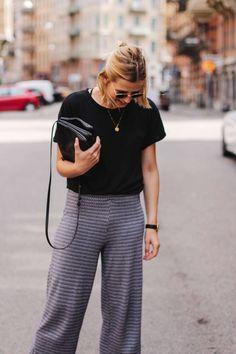 tifmys – Shirt and culottes: Zara   Espadrilles: H&M   Sunnies: Ray Ban   Bag: Céline Trio   Necklace: Jukserei