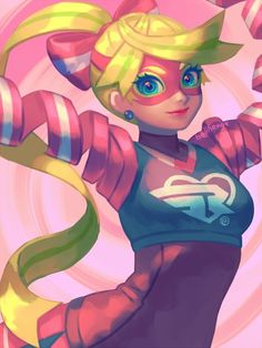 Ribbon girl from ARMS by @bellhenge
