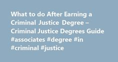 What to do After Earning a Criminal Justice Degree – Criminal Justice Degrees Guide #associates #degree #in #criminal #justice http://degree.nef2.com/what-to-do-after-earning-a-criminal-justice-degree-criminal-justice-degrees-guide-associates-degree-in-criminal-justice/  #what can you do with a criminal justice degree # What to do After Earning a Criminal Justice Degree So you just walked down the aisle (the graduation aisle that is) to receive your criminal justice degree and now wonder…