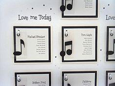 music themed table list.