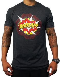 Crossfit Project X Men's 'AMRAP!' Explosivo Tee - Charcoal