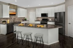 New Homes in Vail, AZ - Santa Rita Ranch II Plan 2723 Kitchen Santa Rita Ranch, Kb Homes, Phoenix Homes, Accent Walls, New Homes For Sale, New Construction, Ceilings, Window Treatments, Floor Plans