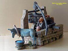 noria en el belen - Buscar con Google Portal, Christmas Nativity, Romanesque, Ideas Para, Minecraft, Bookends, Diy And Crafts, Bricks, Biscuit
