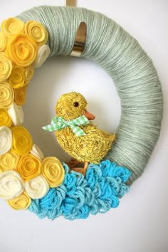 Lovely Easter wreath #easter