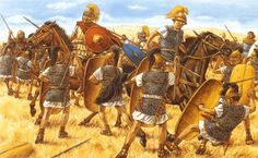 Caesar's victory over Pompey at the battle of Pharsalus, 48 BC.