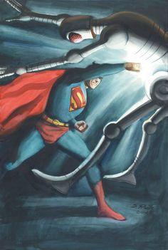 Superman by Steve Rude * Superman And Lois Lane, Superman Family, Superman Comic, Batman, Action Comics 1, Dc Comics Art, Comic Books Art, Comic Art, Superman Wonder Woman