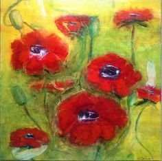 Blumenwiese . Aquacryl . Original . 70/70 Lw/oR . ©Gabriele Dericks