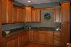 Great Paint Ideas For Kitchen With Maple Cabinets   Google Search
