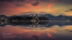 Popular on 500px : Lake Bled at Sunrise by angelainokchong