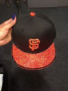 9cfe31c026d KIDS Hat Blinged Out Snap Back ANY TEAM by JqMCrystalDesigns