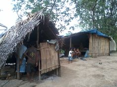 houses of Dumagat people along the Agos river in General Nakar town in Quezon Province