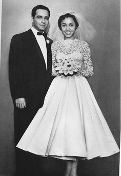 Diahann Carroll and...Im pretty sure thats Monte Kay.It kinda looks like Vic Damone but they werent married till the 80's so its probably not him.