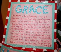 great note to leave for kids from santa