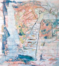 Claudio Spanti - Modi et le chat perché - Acrylique sur toile - cm 71x64 - 2012