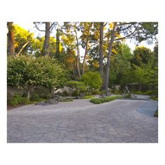 Atherton Japanese Garden ❤ liked on Polyvore featuring home and outdoors