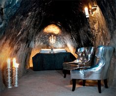 check it out. an old mine in sweden converted into an underground hotel, 500 feet beneath the surface of the earth.