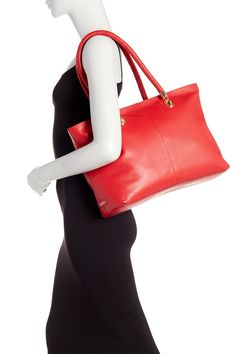 Cole Haan - Benson Leather Tote is now 50% off. Free Shipping on orders over $100.