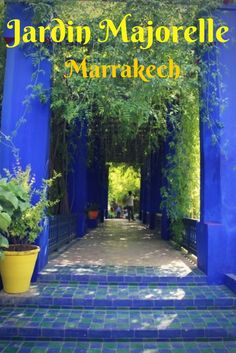 Jardin Majorelle in Marrakech is a peaceful oasis in the middle of this chaotic, colourful city. Great Places, Places To Go, Cabana Ideas, St Laurent, Marrakech Morocco, Peaceful Places, Art Deco Wedding, French Artists, Dream Vacations