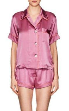 ARAKS Shelby Silk Charmeuse Pajama Top. #araks #cloth #