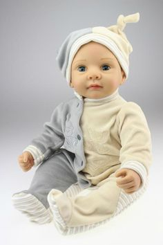 Silicone reborn baby boy doll toys for girl, lifelike handmade baby about 55cm babies toy kids birthday gift girl brinquedods #Affiliate