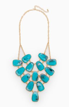 Bohemian Turquoise Statement Necklace- DL