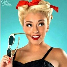 Love this one Pinup hairstyle idea for calendar shoot