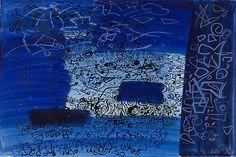 'Garn Fawr, Pembrokeshire' by John Piper (mixed media). John Minton, John Piper, Collage Illustration, Blue Painting, Green Man, Art Forms, Printmaking, Abstract Art, Gallery