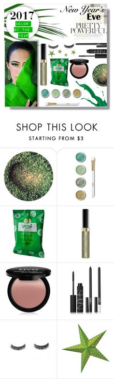 """""""Greenery 2017 NYE Glam"""" by beiacas ❤ liked on Polyvore featuring beauty, Terre Mère, Yes to Cucumbers, Max Factor, NYX, NARS Cosmetics and Cultural Intrigue"""