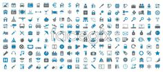 Blue and gray minimalist icon car sale listing vector