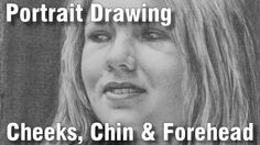 how to draw pencil portrait cheeks chin forehead