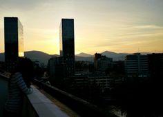 Anocheciendo en Bilbao desde Suite 901, 12 nov 2015 en Hotel Conde Duque Bilbao