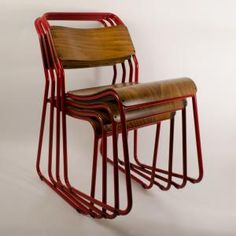 The Trainspotters stacking chair - Red