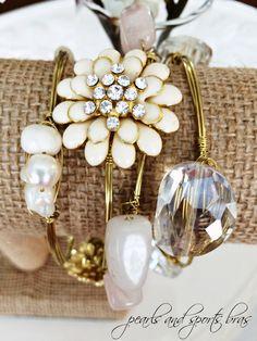 32 New Ideas jewerly diy ideas bangle bracelets Rose Jewelry, Jewelery, Jewelry Accessories, Beaded Jewelry, Handmade Jewelry, Stackable Bracelets, Bangle Bracelets, Bangles, Necklaces
