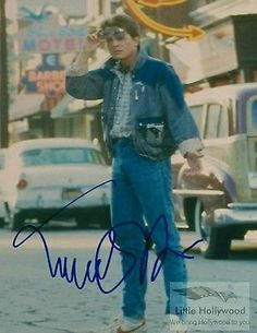 Michael-J-Fox-as-Marty-Mc-Fly-in-BTTF-8x10-Autographed-RP-lustre-Photo Michael J Fox, Bttf, Hollywood, Back To The Future, Fashion, Moda, Fashion Styles, Fasion