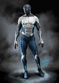 A superhero character design concept I made for the personal comic book project I'm currently working on. Superhero Suits, Superhero Characters, Superhero Design, Comic Book Characters, Comic Character, Fantasy Characters, Super Hero Outfits, Super Hero Costumes, Fantasy Character Design