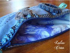 Lalou Créa: Pochette bleu et crochet