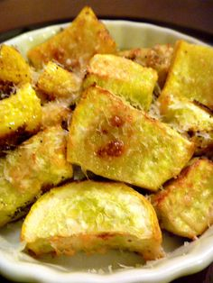 Roasted parmesan summer squash by slice of Southern. A summertime dish we crave!