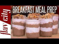 Breakfast Meal Prep - Chia Seed Pudding Recipe - Meal Prep Breakfast - YouTube
