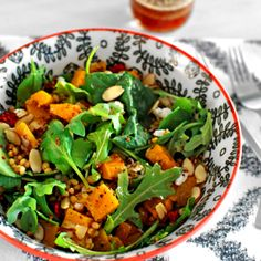 Amazing Roasted Butternut Squash and Red Quinoa Salad with Goat Cheese. Copycat of  my favorite Trader Joe's Salad!