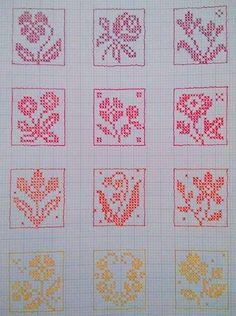 Cross Stitch Letters, Cross Stitch Heart, Beaded Cross Stitch, Cross Stitch Flowers, Doily Patterns, Embroidery Patterns, Stitch Patterns, Crochet Patterns, Crochet Chart