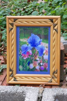 Framed photograph of Purple IrisVintage by InspireToInspire, $25.00