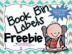 Ready to get your classroom library more organized? I have created book bin labels for Fountas and Pinnell levels F-S and many series books that . Library Book Labels, Classroom Library Labels, Book Bin Labels, Book Bins, Classroom Libraries, Classroom Decor, Classroom Labels Free, Classroom Freebies, Daily 5