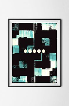 Downloadable Color Poster,Graphic Design File, Abstract Digital Instant Print, Modern Wall Art, Geometric Grunge, File, Circles, Texture, by STRNART on Etsy