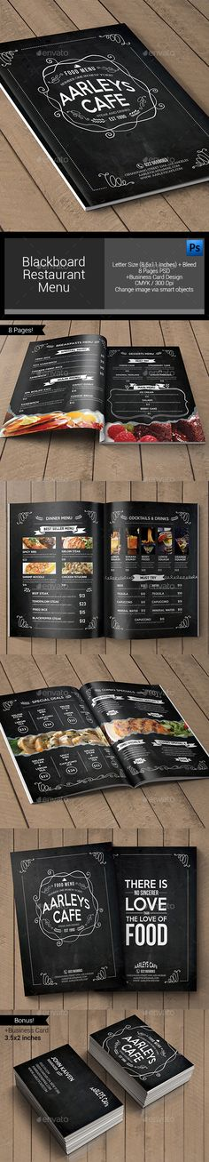 Blackboard Restaurant Menu Template #design Download: http://graphicriver.net/item/blackboard-restaurant-menu/11852511?ref=ksioks