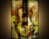 This original painting rocks.  See the guitar??