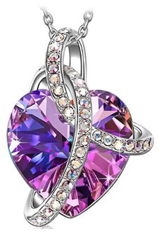 6dd71552abba Amazon     80% Off   Mom Purple Heart Jewelry Women Necklace with Swarovski  Crystals Just  11.99 W Code (Reg    59.99) (As of 12 20 2018 10.13 PM CST