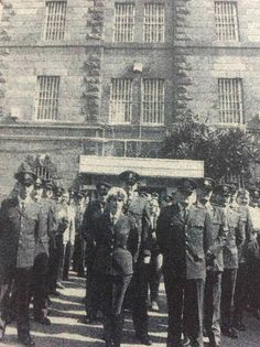 The Closure of Geelong Gaol Governor Holland and the staff at the closing ceremony of the Geelong Gaol in 1991. The gates were closed after 138 years making the Geelong Gaol the longest running prison in Victoria's history.